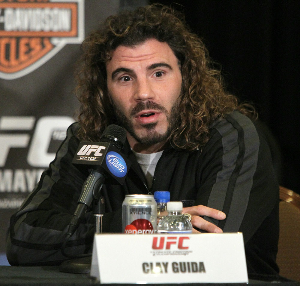 Clay Guida at the UFC 125 Pre-Fight Press Conference.