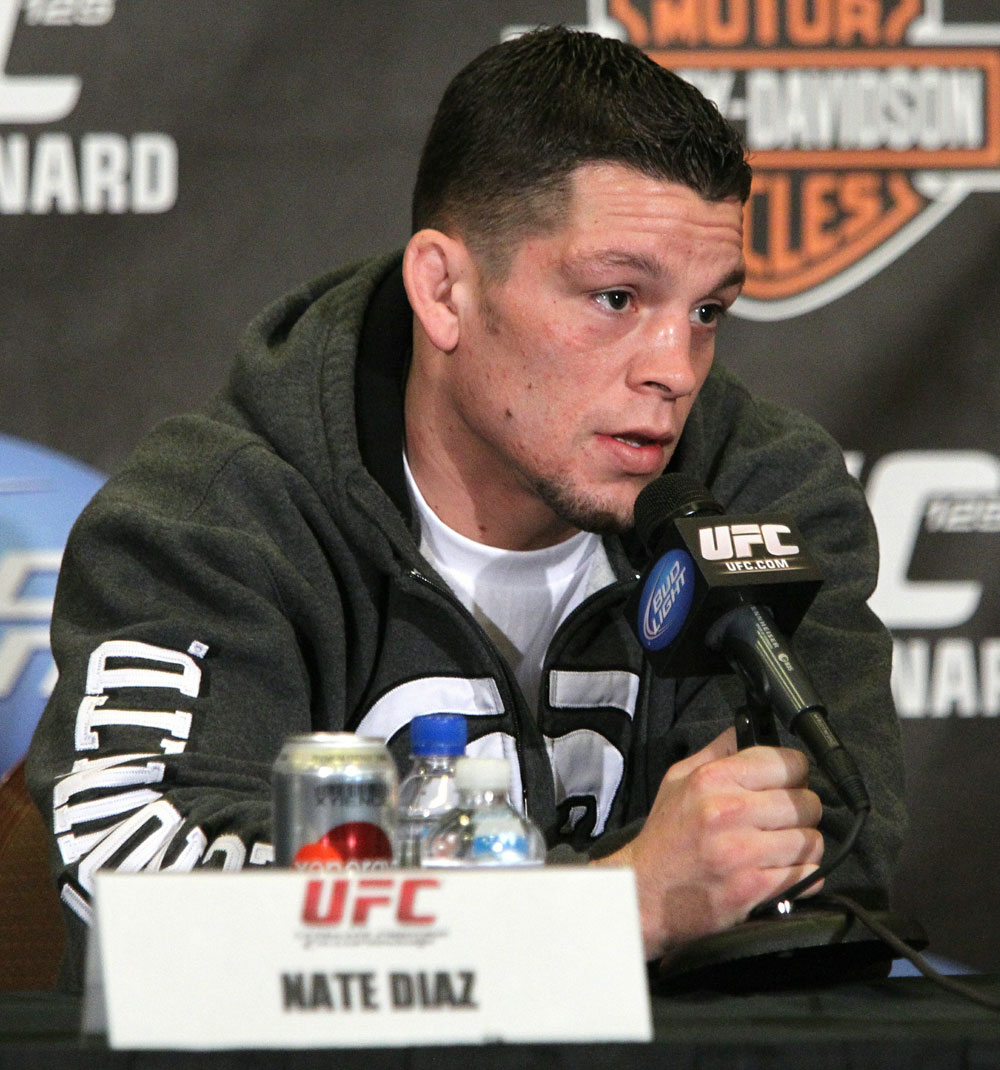 Nate Diaz at the UFC 125 Pre-Fight Press Conference.
