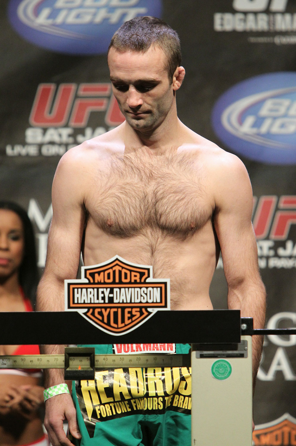 Jacob Volkmann at the UFC 125 Weigh-in.