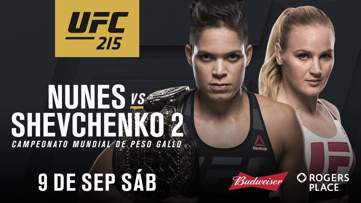 Image result for Nunes vs Shevchenko 2 ufc 215 live pic
