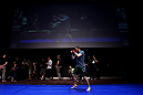 Jon Fitch spars during an Open Workout