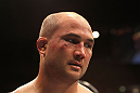 BJ Penn reacts to the decision.