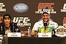 UFC 128: Pre-Fight Press Conference (L-R): Urijah Faber & Mauricio