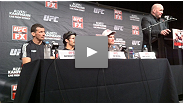 Watch the post-fight press conference of the historic UFC event that featured the debut of the flyweight division.