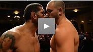 "UFC on FX 5 heavyweight headliners Travis ""Hapa"" Browne and Antonio ""Bigfoot"" Silva have one of the most intense staredowns in recent memory at the offical weigh-ins."