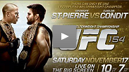 The most anticipated UFC® fight of the year gets even bigger when it's broadcast larger than life to movie theaters nationwide. Don't miss UFC 154: Georges St-Pierre vs. Carlos Condit in movie theaters Saturday, November 17.