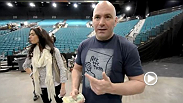 Dana White UFC on FX7 Vlog day 1 is a look behind the scenes of UFC 155. Nick the Tooth celebrates in Craig's office. Dana gets sweated by Boston thugs.