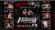In preparation for the Jan 22nd premiere of The Ultimate Fighter: Team Jones vs Team Sonnen, watch all the finale fights from the first 15 season of TUF for free.  Just click on the annotations in the thumbnails in the video.