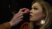 UFC 157 headliners Ronda Rousey and Liz Carmouche provide a behind-the-scenes look at the UFC's first ever all-female promo shoot. Our cameras were on hand as the opponents had their first face-to-face encounter.