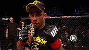 See highlights of Renan Barao's fourth-round finish of challenger Michael McDonald and hear his post-fight interview.