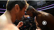 Light heavyweight champion Jon Jones and challenger Chael Sonnen engage in an icy staredown at the UFC 159 weigh-in.