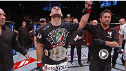 UFC heavyweight champion Cain Velasquez retains his title with a first-round destruction of Antonio 'Bigfoot' Silva. Hear what he had to say following his impressive win.