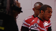 Go inside the venue as home-country hero Jose Aldo and challenger Chan Sung Jung arrive and prepare for their featherweight title fight inside Rio's HSBC Arena.