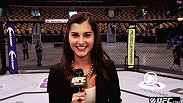 UFC.com reporter Megan Olivi goes behind the scenes of the UFC Fight Night weigh-in with Burt Watson, Joe Rogan, Luke Rockhold, Forrest Griffin. Urijah Faber and Chael Sonnen.