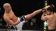 Featherweight Erik Koch makes a statement in his UFC debut, landing a short hook that ends the fight and brings in a Knockout of the Night bonus.