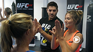 UFC FIT coach Mike Dolce joins TUF Nations coaches Kyle Noke and Patrick Cote during fight week in Toronto to teach MMA moves to media members.