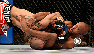 Demetrious Johnson had defended his title twice before taking the Octagon against relative newcomer John Moraga. Moraga, who'd never had a UFC fight go past the third round, survived well into the championship rounds before Johnson locked in this armbar.