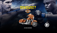 The winner of the UFC 168 main event will receive a motorcycle courtesy of Harley-Davidson