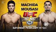 Following a spectacular middleweight debut in which he knocked out Mark Munoz, former light heavyweight champion Lyoto Machida continues his march for 185-pound gold. On February 15th, he faces international star Gegard Mousasi in a five-round showdown.