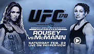 Two former United States Olympians meet in the main event of UFC 170 on February 22nd, as judo bronze medalist Ronda Rousey defends her UFC women's bantamweight title against freestyle wrestling silver medalist Sara McMann.