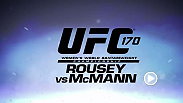 Two former Olympians Ronda Rousey and Sara McMann are set to clash at UFC 170 for the bantamweight title while Daniel Cormier takes on former sparring partner and new UFC light heavyweight Patrick Cummins.