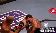 Robbie Lawler crumples Bobby Voelker with a high kick at UFC on FOX 8.