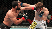 "Coming off his first UFC loss, welterweight Johny Hendricks looked to set the tone early against fellow Texas native TJ Waldburger. Six punches in, Hendricks did just that, finishing ""The Dark Horse"" with a vicious right hand."