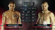 TUF Nations full semifinals fight between friends and training partners Kajan Johnson and Chad Laprise.