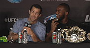 UFC president Dana White and stars Jon Jones, Joseph Benavidez, Luke Rockhold and Anthony Johnson meet with the media following UFC 172.