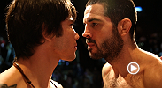 "Matt ""The Immortal"" Brown and Erick Silva face off at the weigh-ins Friday afternoon before they meet in the Octagon in the five-round main event Saturday night at Fight Night Cincinnati."