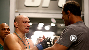 UFC correspondent Paula Sack checks in with heavyweight Vitor Miranda before his TUF Brazil 3 finale bout at Fight Night Sao Paulo. Miranda, who trains with legend Minotauro Nogueira, hopes that his hard work during training camp will pay off.