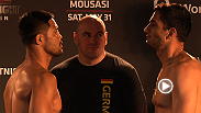 Check out the weigh-in highlight for Fight Night Berlin, as Mark Munoz gets set to take on Gegard Mousasi and Francis Carmont battles CB Dollaway.
