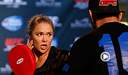 Check out Ronda Rousey, Chris Weidman, Lyoto Machida and Alexis Davis as they take part in Open Workouts at the Fashion Show Mall on Wednesday in preparation for UFC 175.
