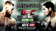 Brazilian Diego Brandao enters hostile territory Saturday when he faces hometown hero Conor McGregor in the main event at Fight Night Dublin. Brandao acknowledges McGregor's striking advantage, but plans to shut him up with jiu-jitsu.