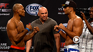 Watch as Gegard Mousasi, Jacare Souza, Alistair Overeem and Ben Rothwell step on the scale and face off ahead of their big bouts at Fight Night Foxwoods Friday night.