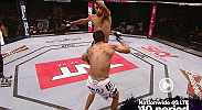 In this MetroPCS Move of the Week; Noad Lahat gets knocked out with a vicious flying knee from Godofredo Pepey.