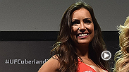 Check out new UFC Octagon girl Luciana Andrade as she has her pictures taken in her very first UFC photo shoot. She'll be live in Brazil on Saturday for Fight Night Uberlandia.