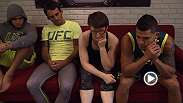 Aisling Daly works with Team Pettis coaches on a game plan before she faces Jessica Penne in an all-new episode of The Ultimate Fighter. Daly watches film of her bout versus Magana, then works of her elbows with coach Cushman.