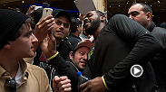 UFC champion Jon Jones, challenger Daniel Cormier, and foes Donald Cerrone and Myles Jury workout for the fans at the MGM in Las Vegas. Megan Olivi catches up with the UFC stars to talk UFC 182 and finds out how Cerrone plans to bring in the New Year.