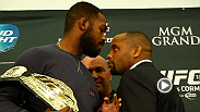 Things got intense once again when Jon Jones and Daniel Cormier stood toe-to-toe at the UFC 182 Media Day stare down. Watch to see how it went down.
