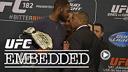 "The bad blood nearly boils over between Jon Jones and Daniel Cormier. ""DC"" connects with family and Jones spends his New Year's Eve training. Then things get heated as Jones and Cormier – and even members of their camps – face off at Ultimate Media Day."