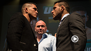 Two UFC titles will be on the line at UFC 185 when lightweight champion Anthony Pettis battles top contender Rafael dos Anjos and newly-minted strawweight champion Carla Esparza faces Joanna Jedrzejczyk.