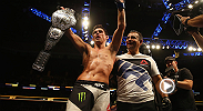 Dominick Cruz earned his belt back at Fight Night Boston after a five-round battle with TJ Dillashaw. Cruz last defended his bantamweight title in 2011 before having to give it up due to injury.