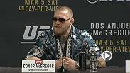 Dana White, Conor McGregor, Rafael dos Anjos, Holly Holm and Miesha Tate are all in town for the UFC 196 press conference live from the MGM Grand on Wednesday,