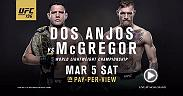 Conor McGregor will try to become the UFC's first simultaneous multi-division belt holder when he takes on Rafael dos Anjos at UFC 196. In the co-main, Holly Holm looks to defend her belt for the first time against Miesha Tate.
