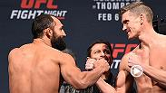 Watch the staredowns between Johny Hendricks-Stephen Thompson and Roy Nelson-Jared Rosholt. Don't miss all the action live and free on FS1 Saturday at 10pm/7pm ETPT.