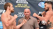 Gunnar Nelson bounced back from his first loss in the UFC with an impressive rear naked choke of Brandon Thatch at UFC 189. Nelson is set to face Albert Tumenov on May 8 at Fight Night Rotterdam.