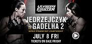 Part of UFC 200 weekend, The Ultimate Fighter 23 Finale features a fight for the strawweight belt between coaches Joanna Jedrzejczyk and Claudia Gadelha. The action is set for July 8 live on FS1 and tickets go on sale Friday!