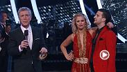 "Paige VanZant and Mark Ballas dance the Jive/Salsa to "" Little Bitty Pretty One "" by Thurston Harris on the Dancing with the Stars' Season 22 Finale!"