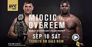 Stipe Miocic defends his belt in front of his hometown in Cleveland, Ohio against Alistair Overeem for UFC 20. Tickets are on sale now!
